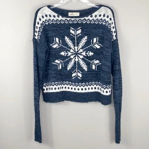 Hollister Fair Isle Knit Snowflake Sweater